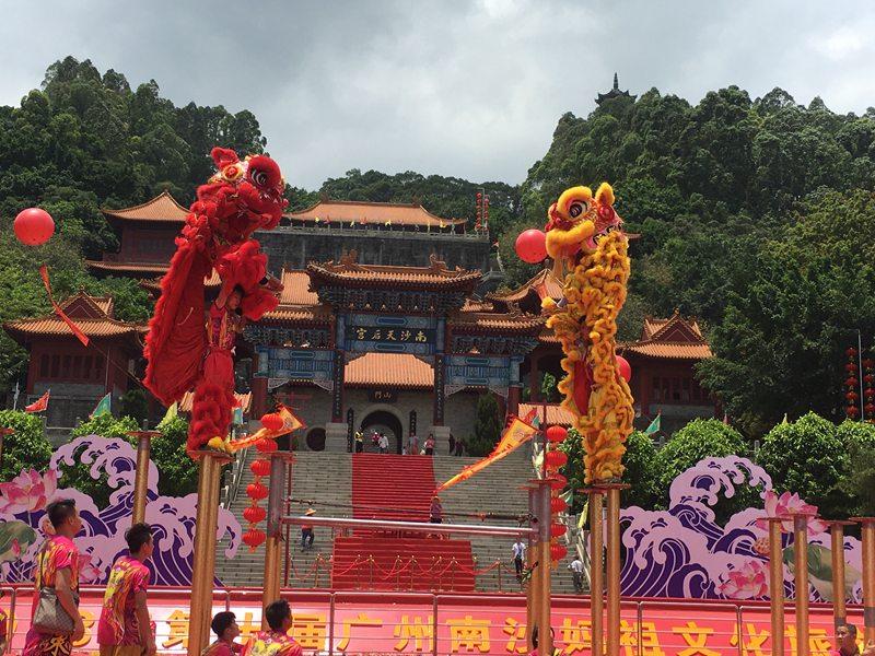 郑州旅游景点舞狮表演